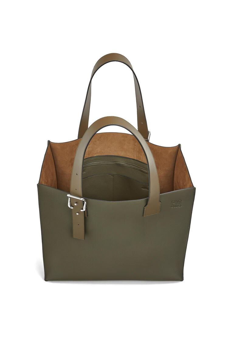 LOEWE Buckle tote bag in soft grained calfskin Khaki Green pdp_rd
