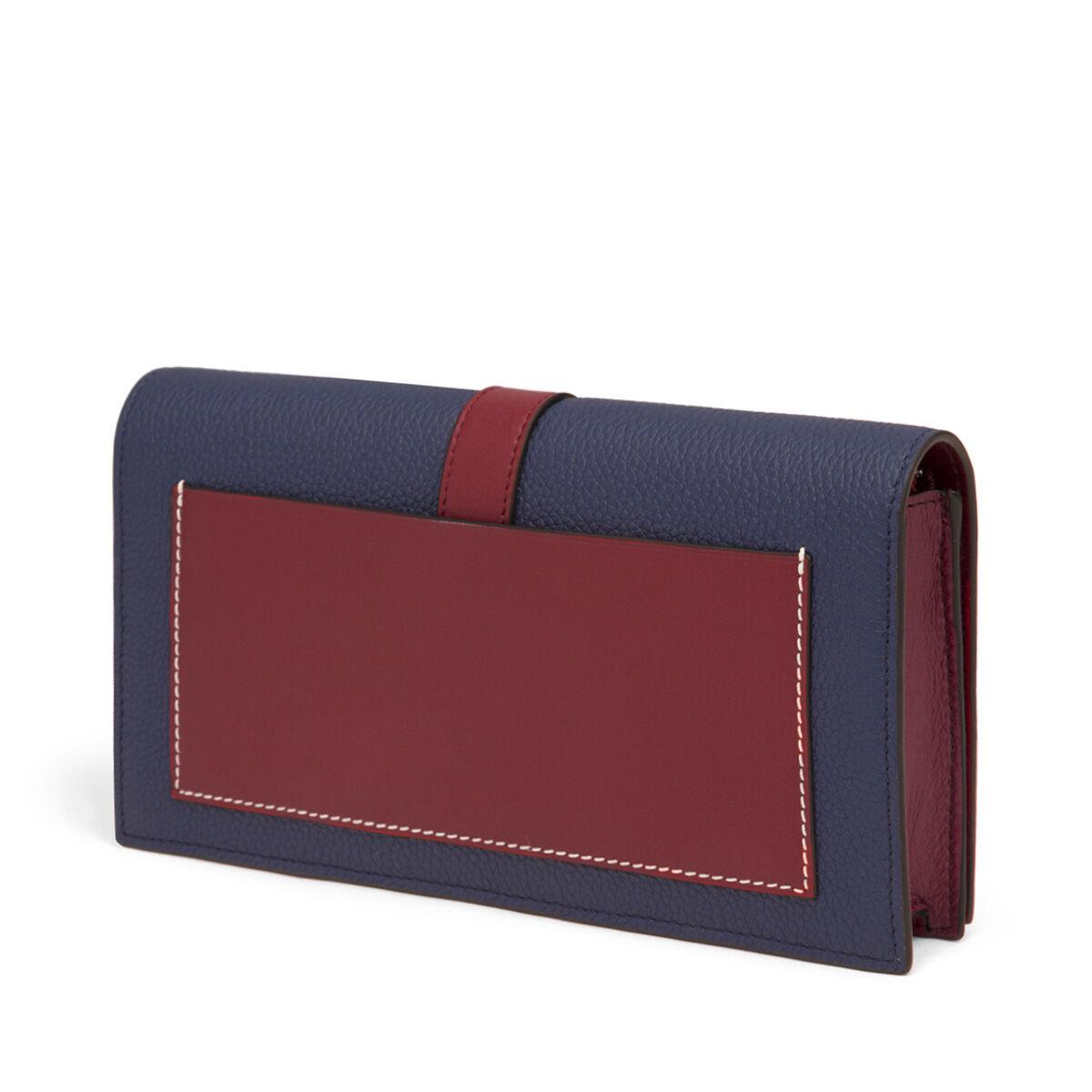 LOEWE Wallet On Chain Marine/Brick Red all