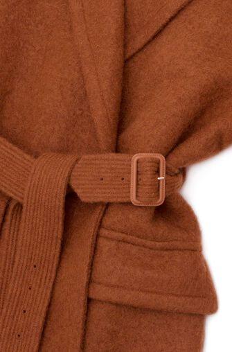 LOEWE Belted Coat Marron front