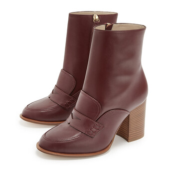 LOEWE Loafer Boot 85 Burgundy front