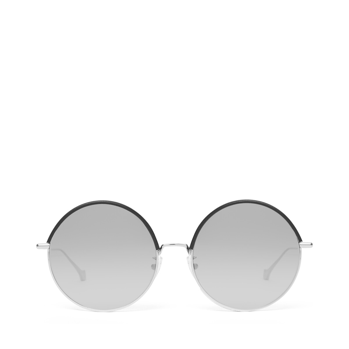 LOEWE Round Sunglasses Black/Gradient Smoke front