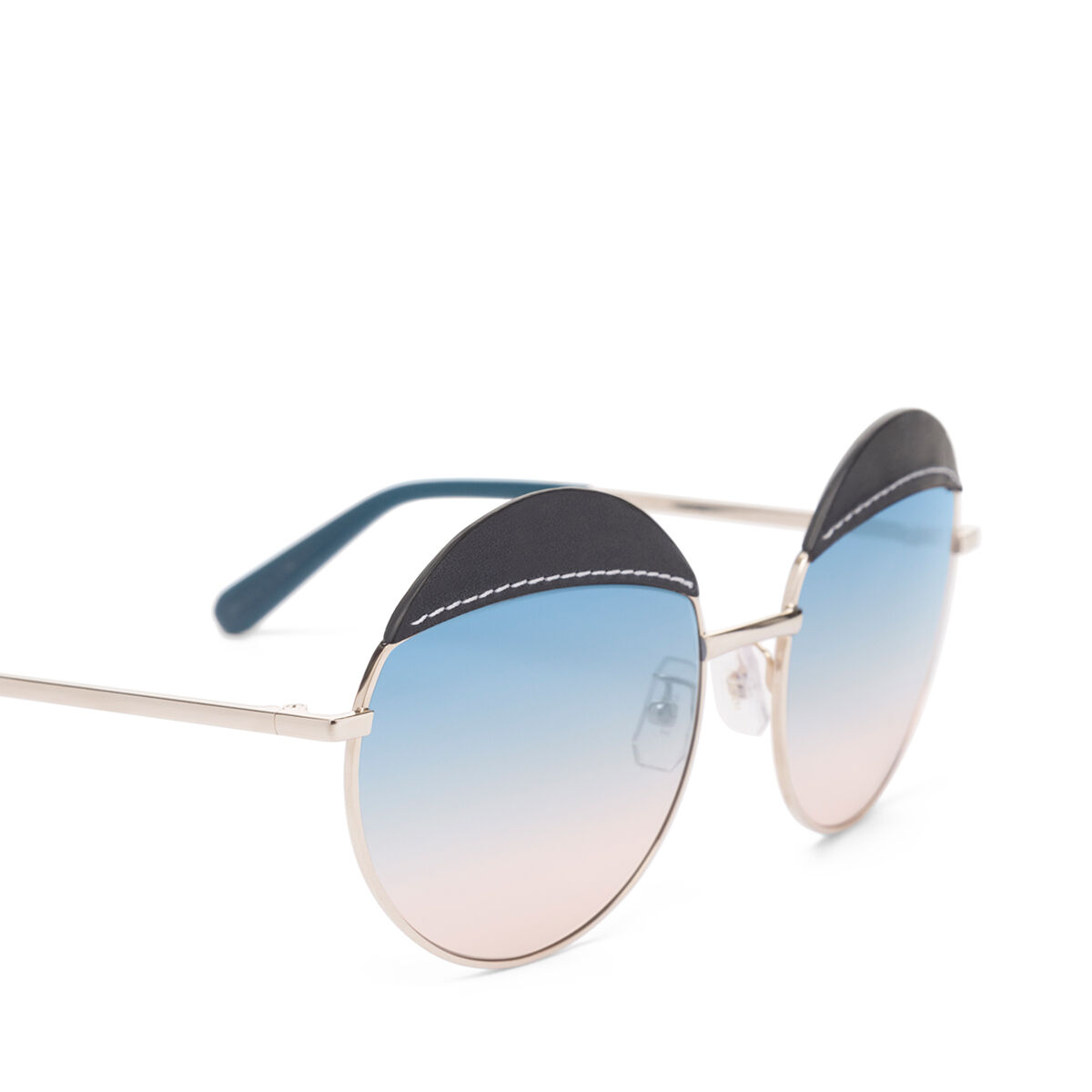 LOEWE Gafas Redondas Pespunte Azul/Azul Degradado Melocoton all