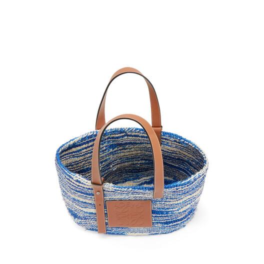 LOEWE Paula's Basket Small Bag Blue/Tan front