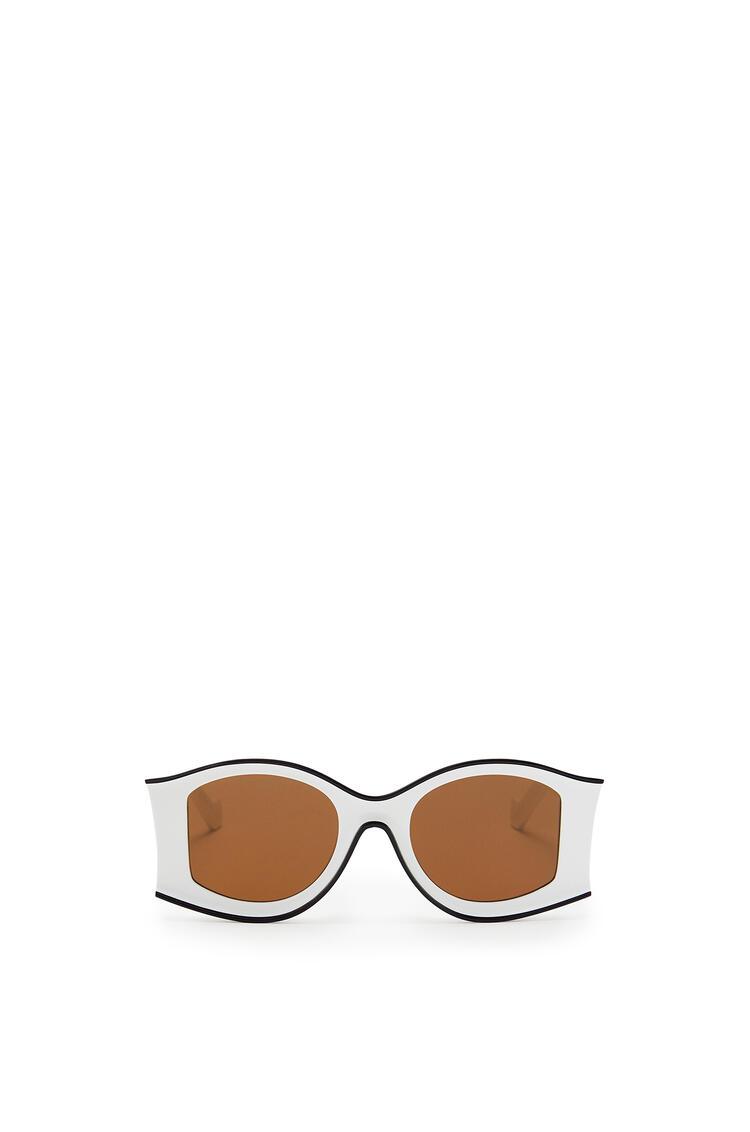 LOEWE Large Sunglasses in acetate White/Black pdp_rd
