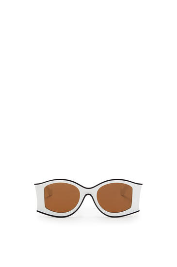 LOEWE Large Paula's Ibiza Sunglasses In Acetate White/Black pdp_rd