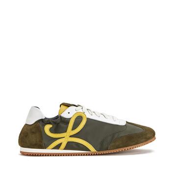 LOEWE Sneaker Verde Kaki/Amarillo front