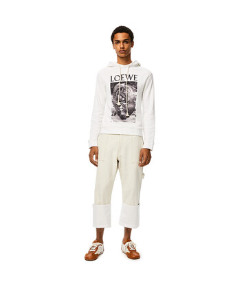 LOEWE Lord Of The Flies Hoodie White front