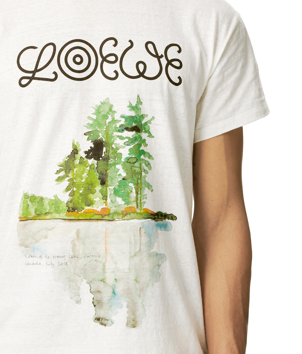 LOEWE Eln Watercolor Print T-Shirt White front