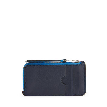 LOEWE Maze Coin/Card Holder Midnight Blue/Fluo Blue front