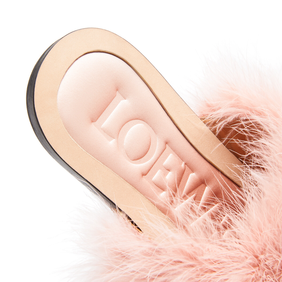 LOEWE Feathers Foot Sandal 淺粉紅 front