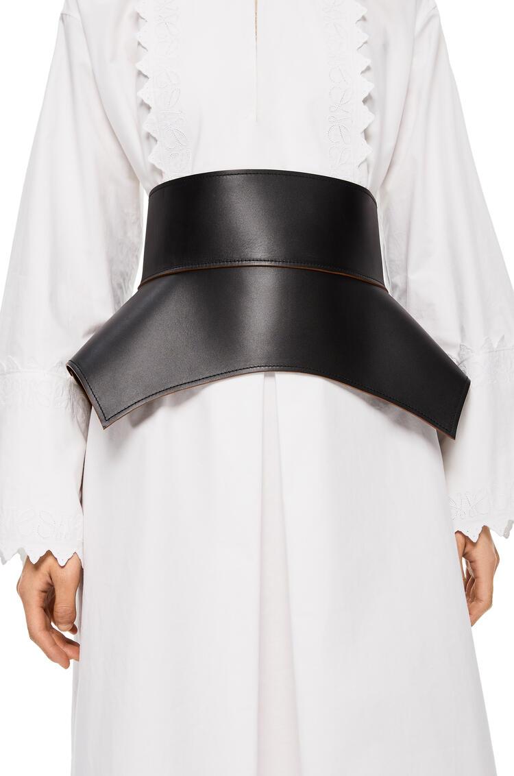 LOEWE Obi belt in nappa Black/Brown pdp_rd