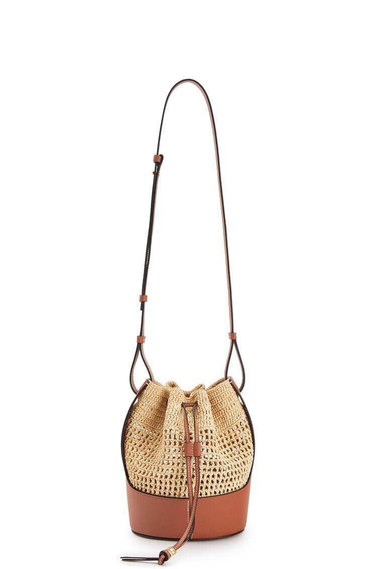 LOEWE Small Balloon Bag In Raffia And Calfskin Natural/Tan pdp_rd