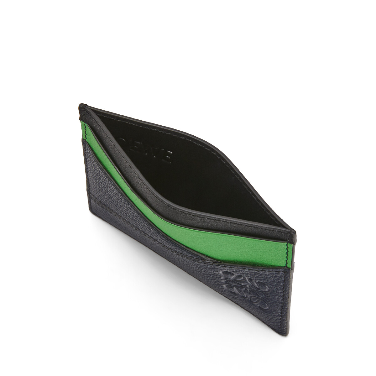 LOEWE Puzzle Plain Cardholder Deep Blue/Green front
