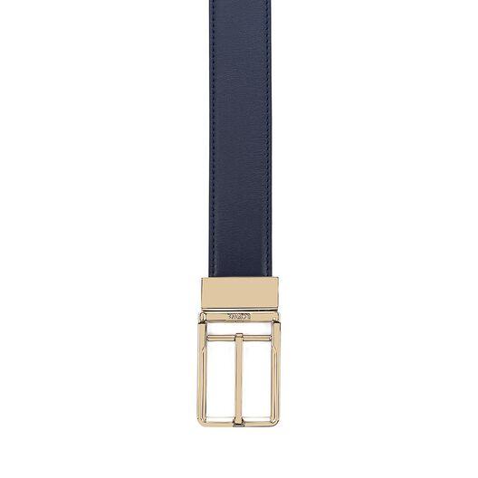 LOEWE Cinturon  Formal 3.2Cm Adj/Rev Marino/Negro/Oro front