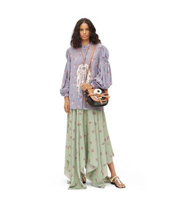 LOEWE Paula Print Peasant Blouse Lilac front