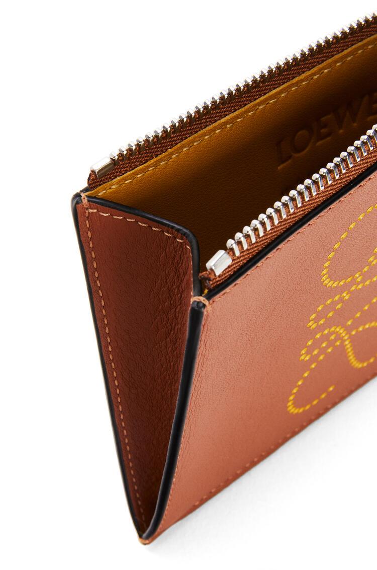 LOEWE Brand coin cardholder in calfskin Tan/Ochre pdp_rd