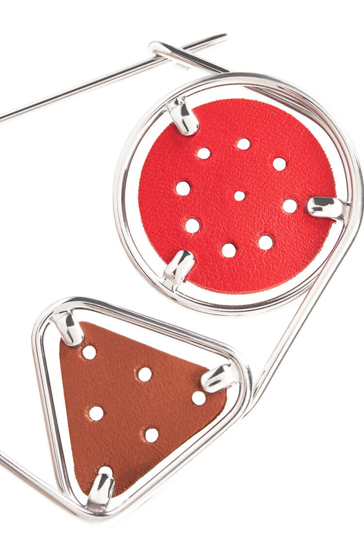 LOEWE Small Double Meccano Pin Primary Red/Tan/Palladium pdp_rd