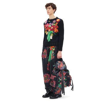 LOEWE Rucksack Bouquet 黑色/多色 front