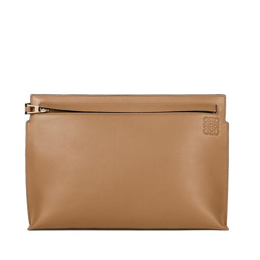 LOEWE T Pouch Bag 粉灰色 all