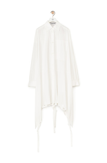 LOEWE Drawstring Shirtdress Blanco front