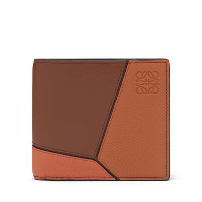 LOEWE Puzzle Bifold Wallet Ginger Multitone front