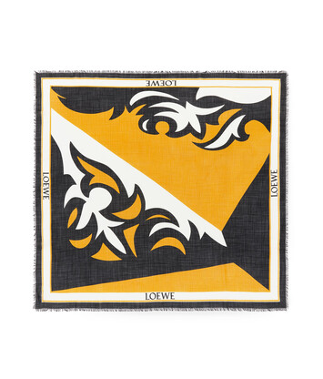LOEWE 140X140 Scarf Puzzle Western 黄色 front