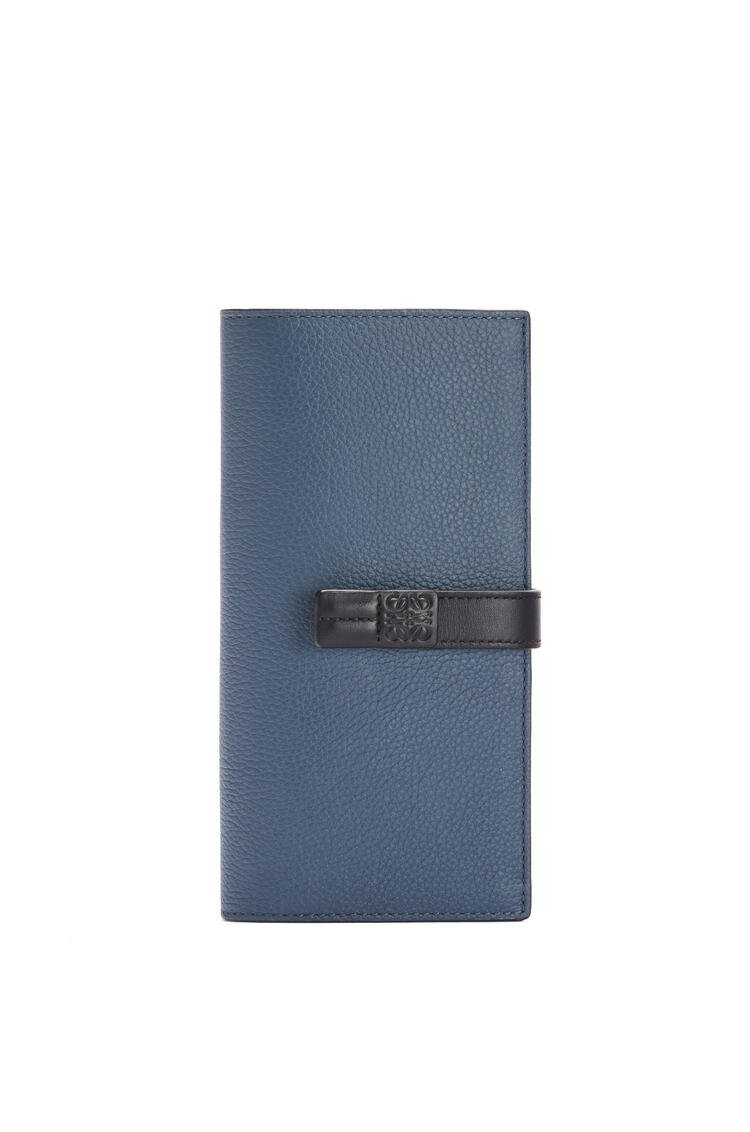 LOEWE Large vertical wallet in soft grained calfskin Indigo Dye/Black pdp_rd
