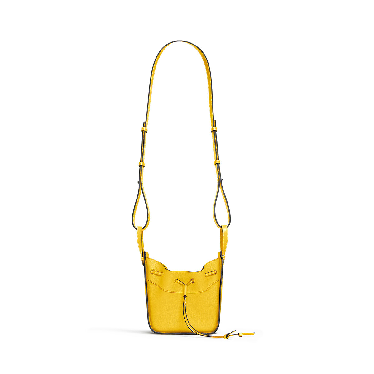 LOEWE Hammock Drawstring Mini Bag Yellow front