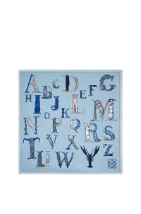 LOEWE Alphabet scarf in silk Light Blue pdp_rd