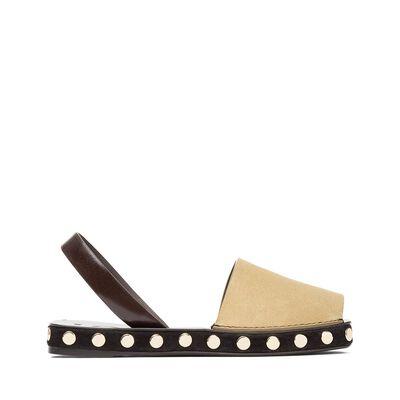 LOEWE Slingback Sandal Studs Gold front