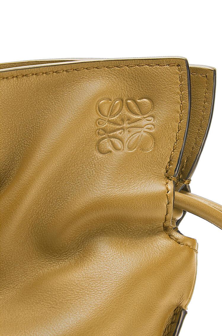 LOEWE Flamenco clutch in nappa calfskin Ochre Green pdp_rd