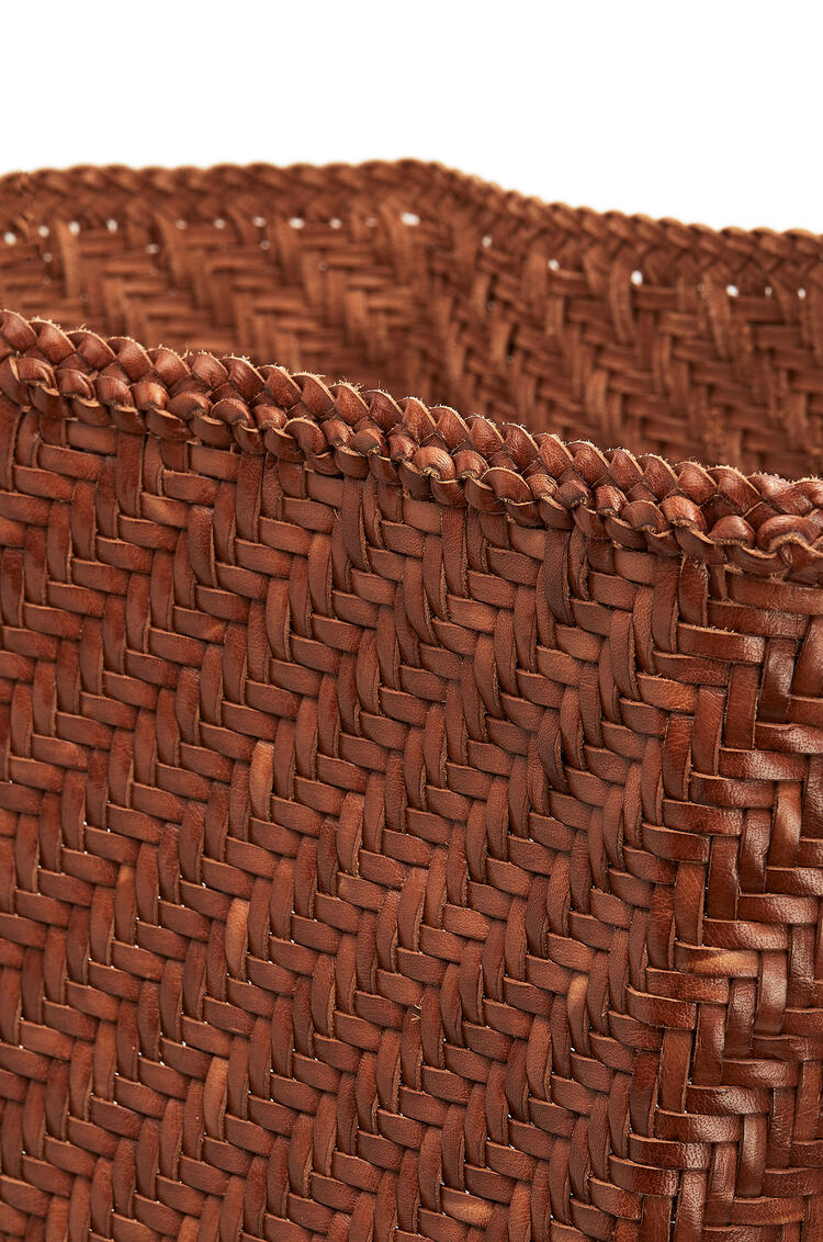 LOEWE Tall Laundry basket in calfskin Tan pdp_rd