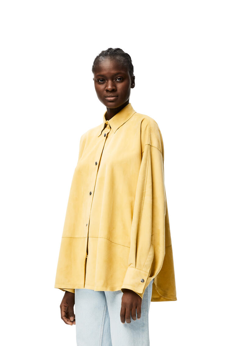 LOEWE Oversize shirt in suede Sand/Butter pdp_rd