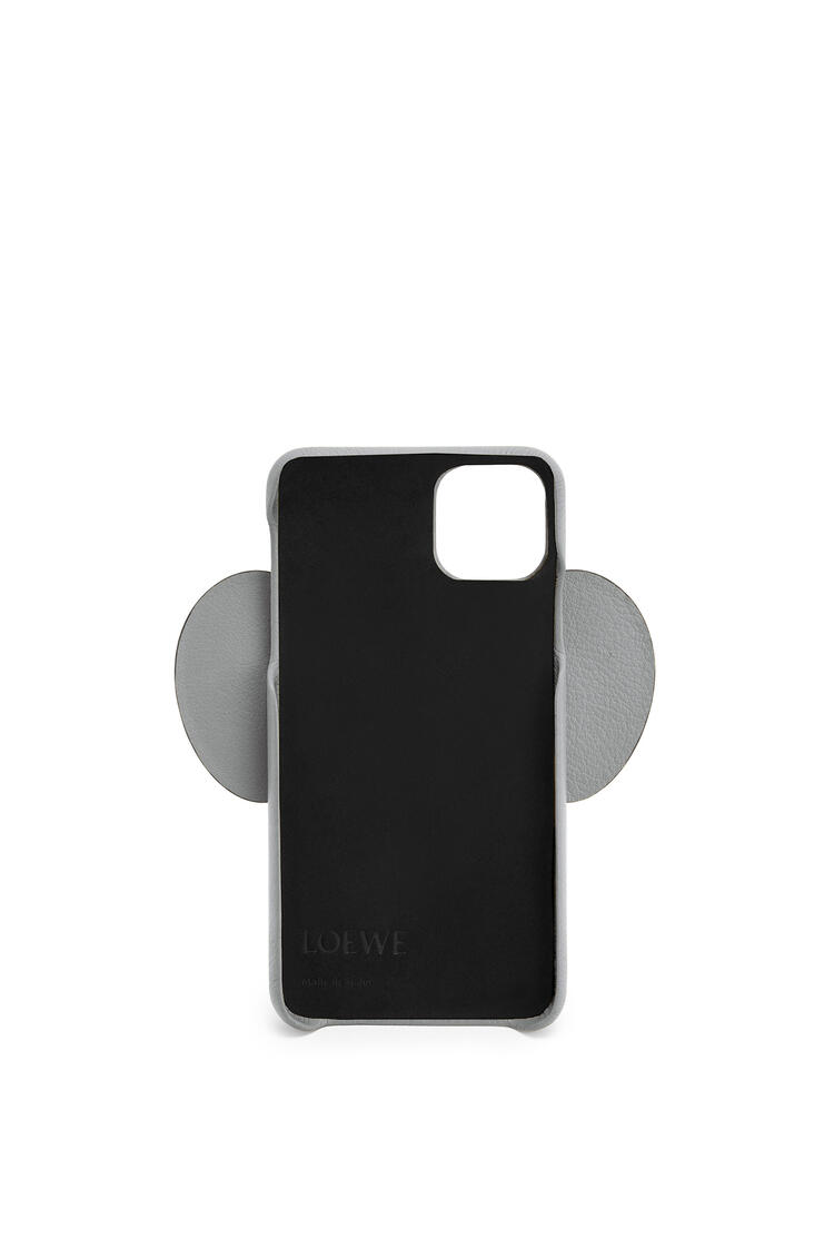 LOEWE Elephant cover for iPhone 11 Pro Max in pearlized calfskin Gunmetal pdp_rd