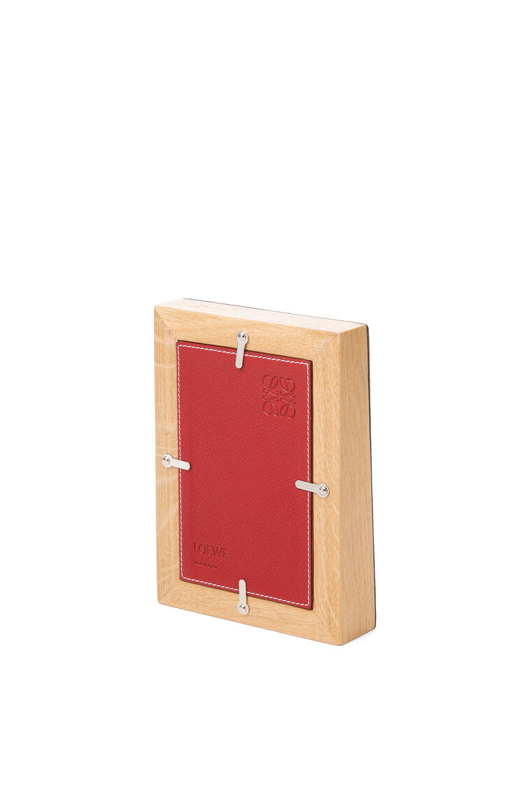 LOEWE Small photo frame in grained calfskin Cherry pdp_rd