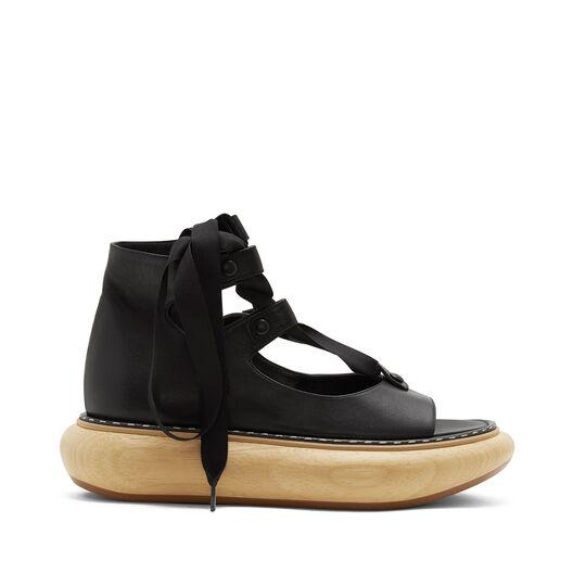 LOEWE Wood Platform Sandal 30 黑色 all