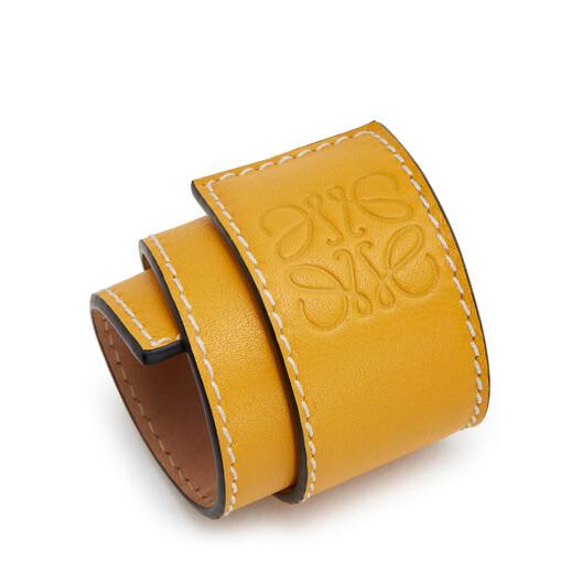 LOEWE Slap Bracelet Small Yellow front