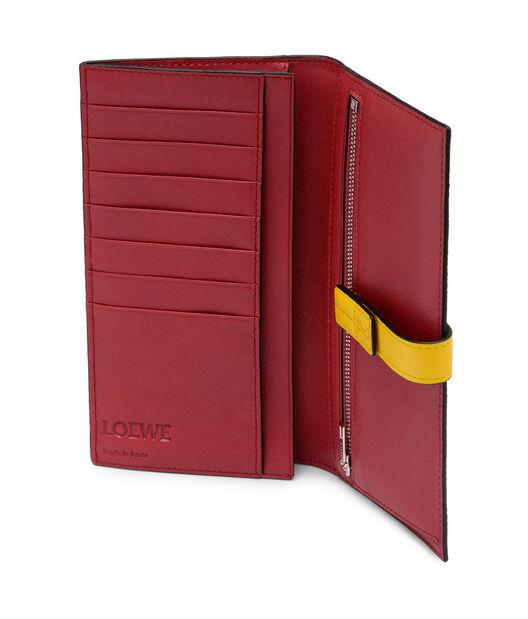 LOEWE Large Vertical Wallet Leaf/Yellow front