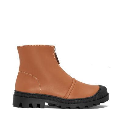 LOEWE Zip Boot Tan front