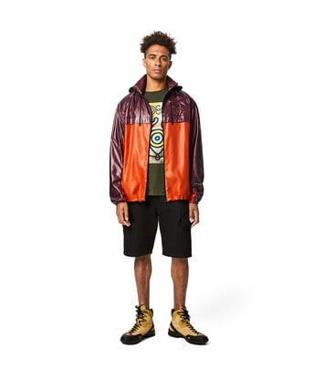 "LOEWE ""EYE""自然拉链外套 Purple/Orange front"