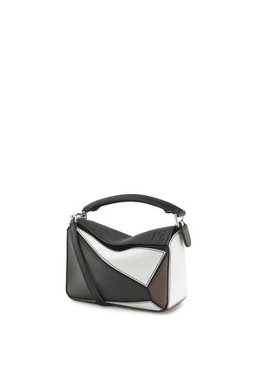 LOEWE Mini Puzzle Bag In Classic Calfskin Black/Taupe pdp_rd