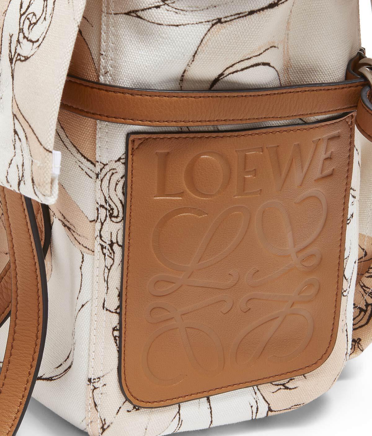 LOEWE Soft Messenger Faces S Bag Soft Pink/Ligth Caramel  front