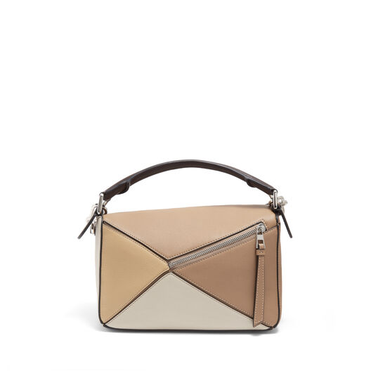 LOEWE Bolso Puzzle Pequeño Mocca Multitono front