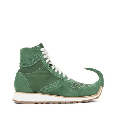 LOEWE High Top Sneaker Dinosaur Green front