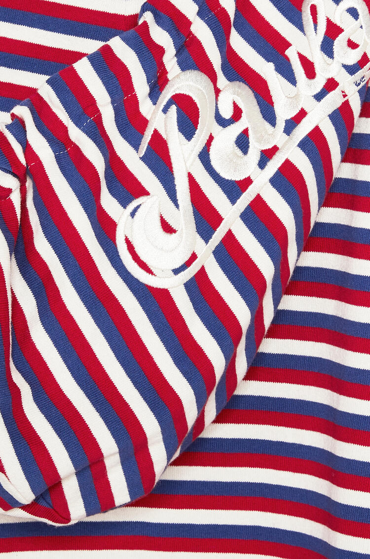 LOEWE Hooded tunic in cotton Red/White/Blue pdp_rd