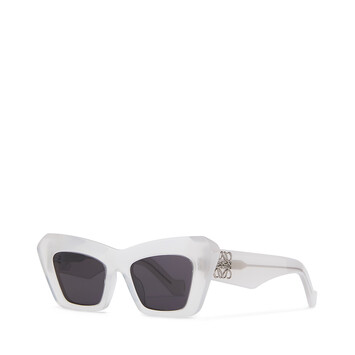 LOEWE Acetate Cateye Sunglasses Ice White front
