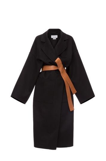 LOEWE Oversize Belted Coat Black front