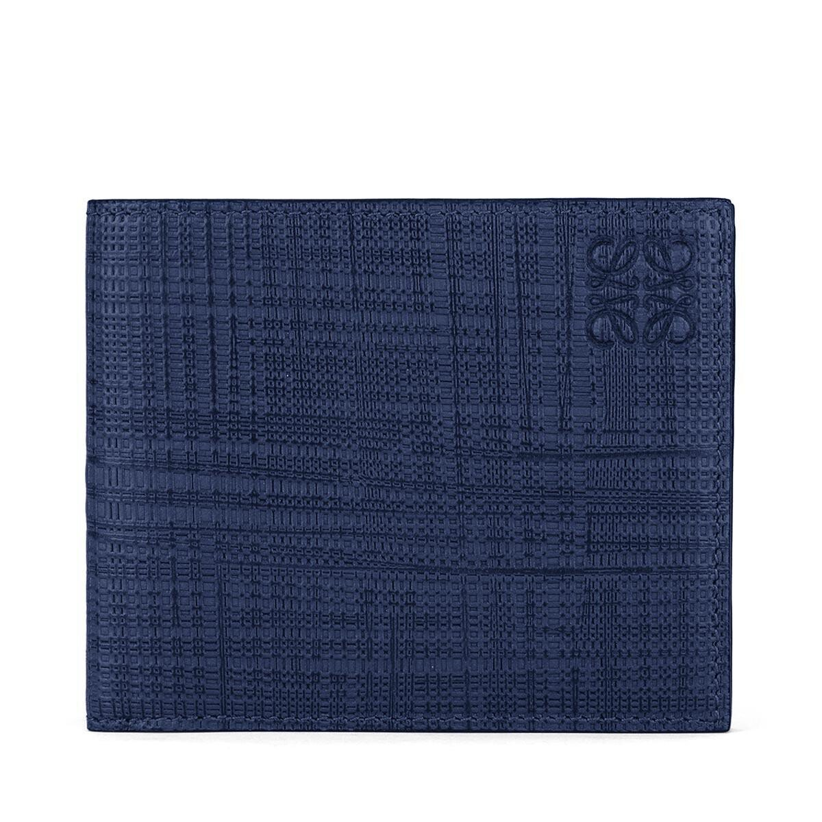 LOEWE 6 Cards Bifold Navy Blue front