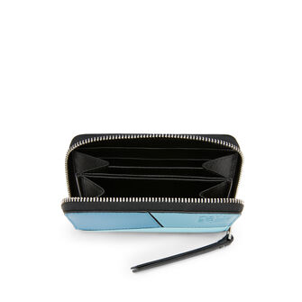 LOEWE Puzzle Zip 6 Card Holder blue multitone front