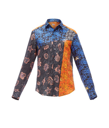 LOEWE Paula Patchwork Shirt Black/Multicolor front